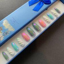 A set of 12 False Nails - Stiletto - Unicorn or Mermaid. Ultra Shine. UK