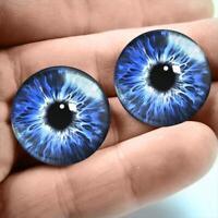 Glass Doll Eyes 40mm Blue Siamese Cat Realistic Animal Eye Jewelry Taxidermy Art