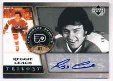 2006-07 TRILOGY LEGENDERY SCRIPTS REGGIE LEACH AUTO 49/50 PHILADELPHIA FLYERS