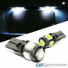 2x Error Free T10 Canbus W5W 194 5050 SMD 5 LED White Light Bulbs Pair