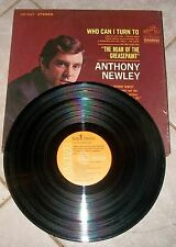 "ANTHONY NEWLEY Who Can I Turn To ""ROAR OF THE GREASEPAINT""  Vinyl LP 1965, NICE!"