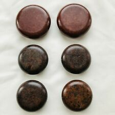6 Bakelite Furniture Castors Floor Protectors - 2 sizes