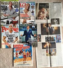 7 Dwayne Johnson The Rock - People Sexiest Man, Men's Health, TV Guide, NYT, SI
