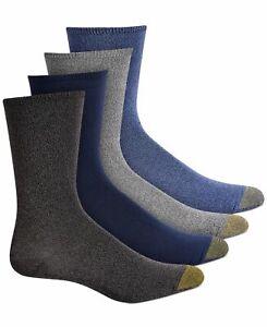 Gold Toe Women's 4-Pack Ultra-Soft Flat-Knit Crew Socks