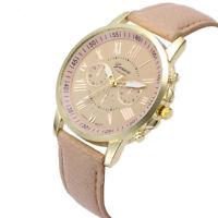 Womens Watches Fashion Roman Numerals Faux Leather Analog Quartz Wrist Watch AU