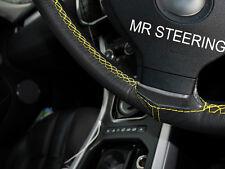 Para Mercedes Clase C W203 Cubierta del Volante Cuero Real Amarillo doble puntada