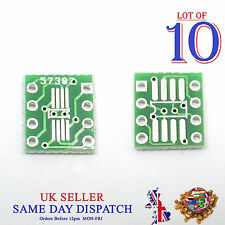 10x PCB SO MSOP TSSOP SIO6 SOP8 to DIP-8 1.27 / 0.65mm Adapter SMD Converter