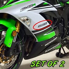 Kawasaki 636 Black decals stickers set of two ninja FAST TO SHIP emblem zx6 r