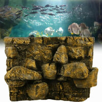 3D PU Rock Stone Aquarium Background Backdrop Reptile Board Fish Tank  TI