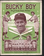 Bucky Boy 1926 Bucky Harris Ty Cobb Mike Martin Baseball Sheet Music Advertising