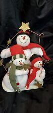 Christmas plush snowman family Trio