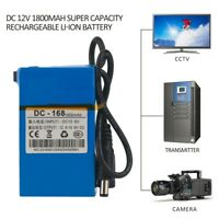 DC-168 12V 1800mAh Portable Super Rechargeable Li-ion Battery Pack UK/EU/US Plug