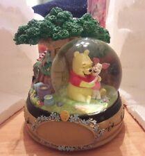 "Rare Look Authentic Disney's Winnie the Pooh & Piglet ""Mr. Sanderz"" Snow Globe"