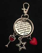 Good Friends Forever Apart Stars Charm Keychain Bff Best Mate Gift Infinity Wine