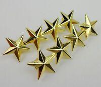 PAIR GENERAL'S GOLDEN FOUR-STAR RANK BADGE INSIGNIA