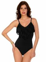 MAGICSUIT FRINGE BLAIRE TUMMY CONTROL ONE PIECE SWIMSUIT 7310 SIZE 12