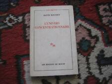 David ROUSSET: l'univers concentrationnaire