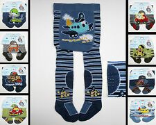 BABY BOYS COTTON CRAWLING ANTISLIP TIGHTS RUBBERISED KNEES INSTEP SOLE 6 12 24m