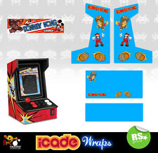 Icade Donkey Kong Full Set Arcade Artwork Graphics Sticker Sides Marquee Panels