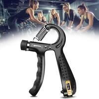 5-60KG Adjustable Hand Grip Strengthener Exerciser Wrist Forearm Muscle Training