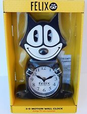 FELIX THE CAT 3-D MOTION WALL CLOCK NEW AUTHENTIC