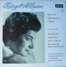 """BIRGIT NILSSON SINGT AUS OPERN - GUISEPPE VERDI - ARGEO QUADRI  12"""" LP (L129)"""