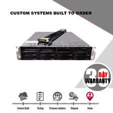 2U Server 8 Bay X8DTI-F Freenas JBOD SAS2 2x Intel Xeon Low Power 9210-8i HBA