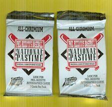 1995 Phil Rizzuto's National Pastime Chromium Baseball  Unopened Pack 2 Left