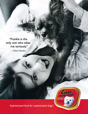 Tracey Ullman 1-page clipping Jan 2003 ad for Cesar dog food