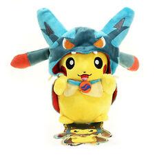 "Poncho Pikachu Mega Lucario Pokemon 2015 Cosplay Plush Toy Stuffed Animal New 8"""