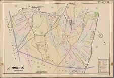 1910 MORRIS TOWNSHIP NEW JERSEY DELBARTON SCHOOL WASHINGTON VALLEY STA ATLAS MAP
