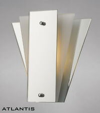 Stylish Art Deco Wall Light With Mirror and Glass Panels - Bargain Price
