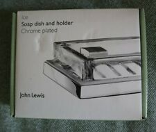John Lewis Soap dish and holder - Chrome plated