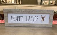 """Rae Dunn - HOPPY EASTER - Standup Wooden Sign - 14""""L x 5""""H - Easter / Spring"""