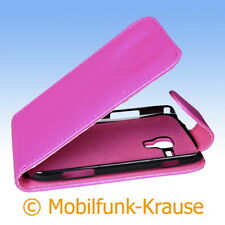 Flip Case Etui Handytasche Tasche Hülle f. Samsung GT-S7562 / S7562 (Pink)
