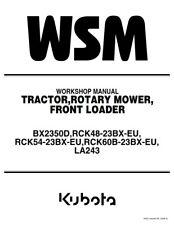 KUBOTA TRACTOR BX2350D WORKSHOP MANUAL REPRINTED 2006 EDITION