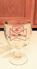 Budweiser King of Beers Vintage Goblet/Footed Beer Glass