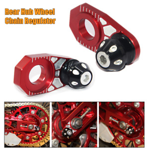 2PC Motorcycle Motocross Rear Hub Wheel Adjuster Chain Regulator Wheel Alignment