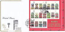 (15272) GB Cotswold FDC Buses minisheet Leyland Lancashire 15 May 2001