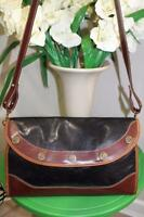 Brahmin black and brown clutch cross body bag (p900)