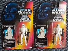 2x Star Wars Power Of The Force 2 POTF2 Stormtrooper Army Builder Lot Kenner