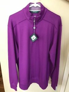 New With Tags Bobby Jones Men's Large 1/4 Zip Pullover-Very Nice!