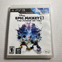 Disney Epic Mickey 2 The Power of Two PS3 Sony PlayStation 3, 2012  Video Game