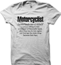 Aprilia RSV4 racing motorcyclist biker definition white cotton t-shirt  01187
