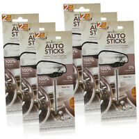 Enviroscents Auto Sticks Car Air Fresheners, 6-Pack with 12 Sticks (New Car)