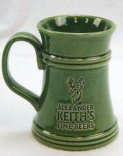 Alexander Keith's Fine Beers, Stag Beer Mug, Stein, Cup 16oz. Moss Green