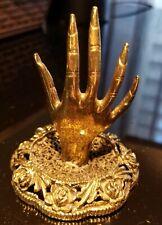 Mementos Gold Metal Hand Filigree Ring Holder