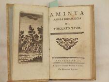 TORQUATO TASSO AMINTA FAVOLA BOSCHERECCIA 1777 ILL DOMENICO ACERRA CARTA AZZURRA