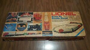 Vintage Lionel 6-1489 Santa Fe Double Diesel Set 027 Gauge 1970's