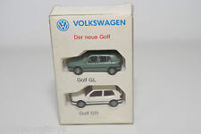 WIKING VW VOLKSWAGEN DER NEUE GOLF GL GTI WHITE GREEN NEAR MINT BOXED